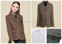 Quality Fashion Hotselling Primary High School Uniforms Wholesale Check Pattern