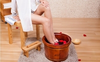 Luxury wooden portable foot wash basin,promoting blood circulation