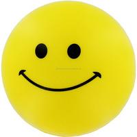 Yellow color pu smiley stress ball