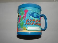 Colorful sea life animal 3d pvc plastic mark cup