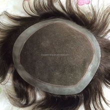 Elegant-wig good looking Indian hair replacement invisible super thin skin injected toupee