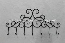 2015 las ventas caliente decoración de la pared gancho de hierro forjado