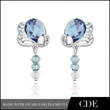 Wedding Gift Crystal Rhinestone Earring Silver Jewelry Club
