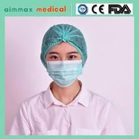 white, blue, green, pink disposable nonwoven PP bouffant nurse cap/head cover