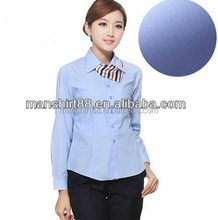 2015latest formal dress shirt with long sleeves for office ladies