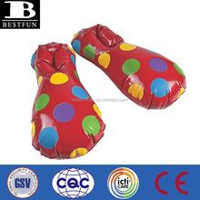Personalizada de fábrica de China inflable gigante de plástico zapatos de payaso venta
