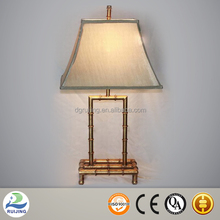 Table Lamp Metal Base Gold Bamboo