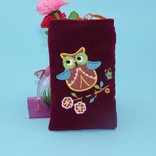 2014 newest design cheapest mini velvet mobile phone pouches manufacturer & exporter