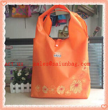 Silk printing logo foldable shopping bag in bag for shopping