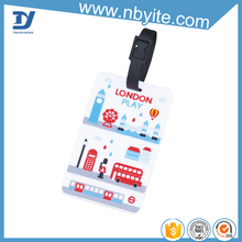 new fashion travel 3d rubber luggage tags
