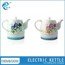 1.2L Round Porcelain Colour Changing Antique Kettle