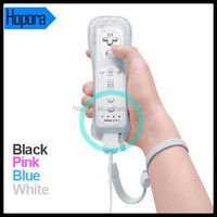 Built in Motion Plus Remote+Nunchuck Controller+Case+wrist Strap for Nintendo Wii