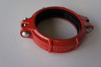 UL FM CE approved ductile cast iron grooved pipe fittings and flexible coupling clamp/galvanized flange