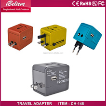Good quality World Travel Adapter with US/EU/Australia/UK with universal plugs