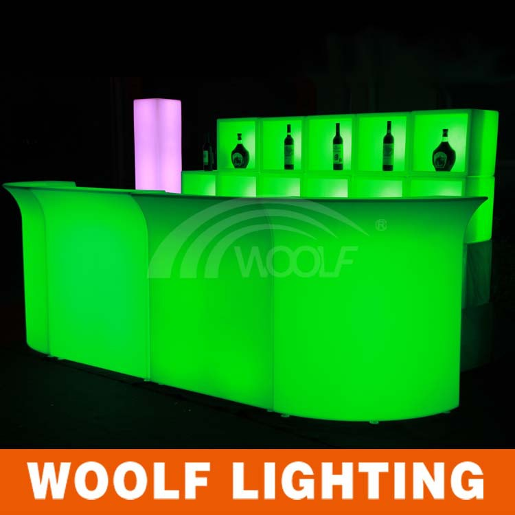 Led bar meubles h tel r ception comptoir de bar design tables en plastique id - Comptoir de reception hotel ...