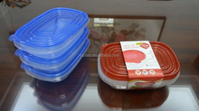 Good selling 3 pcs set plastic food storage container 1000ml