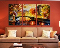 Decoration wall art tree canvas modern abstract mural