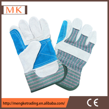 cow split leather welding gloves/welding leather gloves with safety cuff/industrial glove