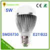 LED buld smd5730 remote control rechargeable led bulb light 5w b22 e27 led street light bulb