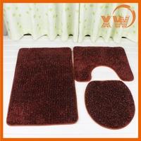 super soft micro fiber accessory set shaggy bath mat set in china