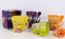 2012 the most popular ceramic coffee cup with decoration