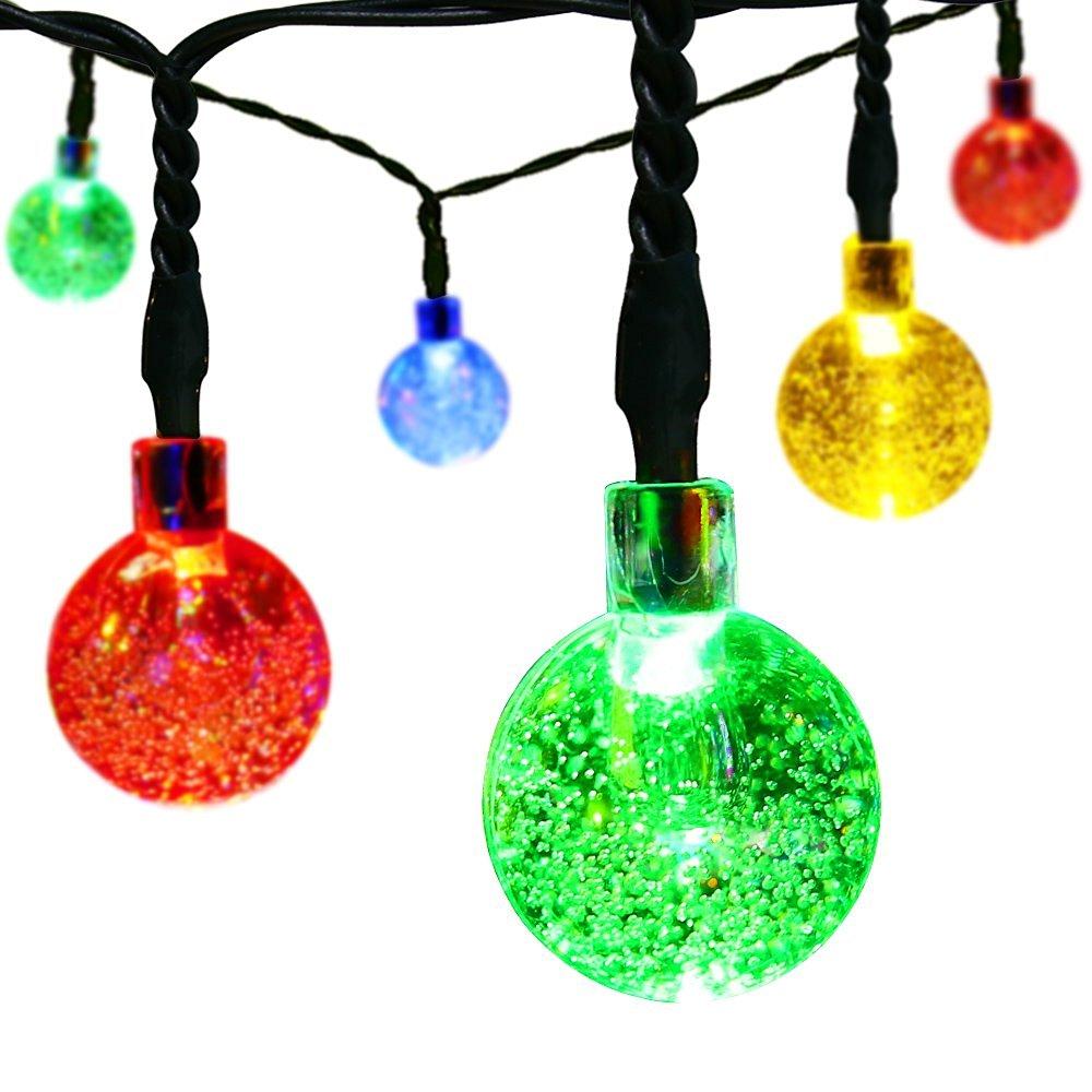 amazon hot selling muti color christmas 30 led crystal ball fairy lights solar powered led globe string light buy solar ball string lightsled ball string