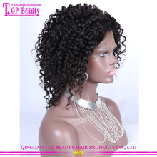 Hot sale short afro kinky lace human hair wigs 6a grade short afro wigs for black women