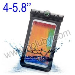 4-5.8 Inch Universal PVC Waterproof Pouch,Waterproof Bag for iPhone Samsung LG Sony HTC all 4-5.8 Inch Smart Mobile Phone