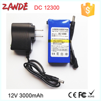 Rechargeable light weight 12V DC 3000mah li-ion battery pack YSD-12300 for LED Strip&Panel/Light