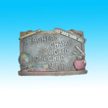 spoontiques teacher change the world resin raised plaque wall decor