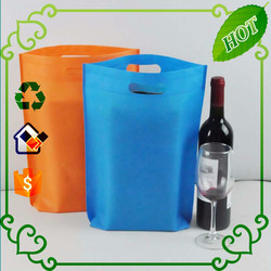 eco friendly customized non woven D-cut bags