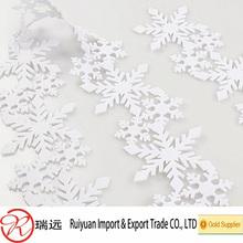 Laser cut snow flake christmas tree decoration