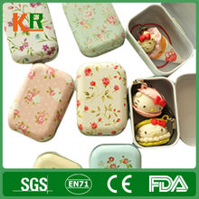 Pretty style square shape small metal tin boxes for soap