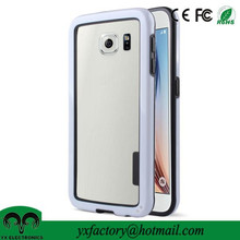 tough pc tpu dual protective bumper frame case for S6 so fit phone cases
