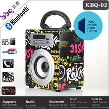 2014 hot selling usb sd card with raido bluetooth speaker basketball gadgets