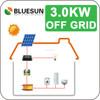 Bluesun high efficiency attractive design 3000w portable solar power system