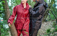 Excellent quality hot sell polyester adult rain coat with pants