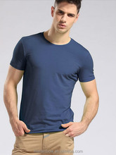 Cotton Spandex Mens Stretch Sports T Shirts All kinds of Colors Mens Slim Fit Plain O Neck T Shirts