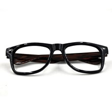 Wooden temple acetate optical glasses frame