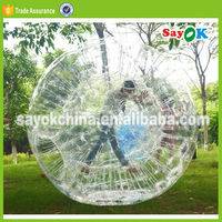 Giant clear human hamster ball pvc cheap inflatable human sized hamster ball for adults