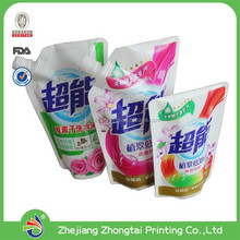 Hot sales new design liquid packaging pouch with spout for shampoo, plastic packaging bags