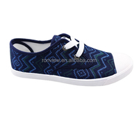 New arrival men's casual shoes with yarn dyed fabric upper canvas shoes