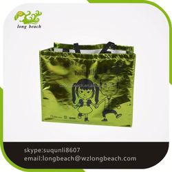Wholesale reusable Metallic Color Laminated PP Non Woven Shopping Bag