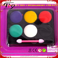 Carnival cosplay party multicolor make up face paint set