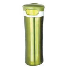 double wall stainless steel vacuum-insulation thermos mug warming flask 400ml