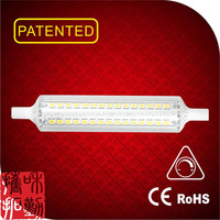 Tecno design linear glass dimmable led R7S 118mm solar security led sensor light