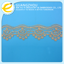Free sample gold best choice wholesale triangle style trim lace
