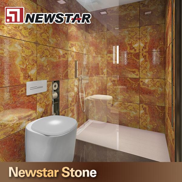 Marmeren plaat badkamer vacumvormen effen oppervlak polyester hars panelen badkamer faux - Marmeren douche ...