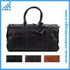 Weekend duffel bag travel bag genuine leather