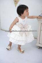 Importar tela partido de la princesa del bebé cuadros del vestido para niña
